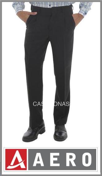 Pantalón de vestir en tela tropical para hombre Aero talles 42/54