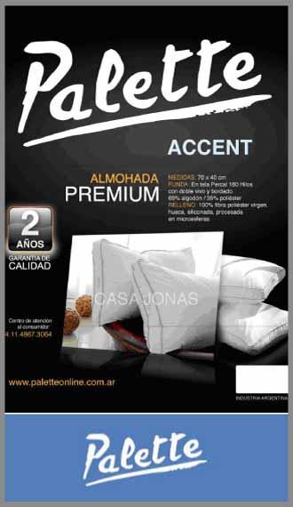 Almohada con funda bordada Palette Accent 70cm x 40cm