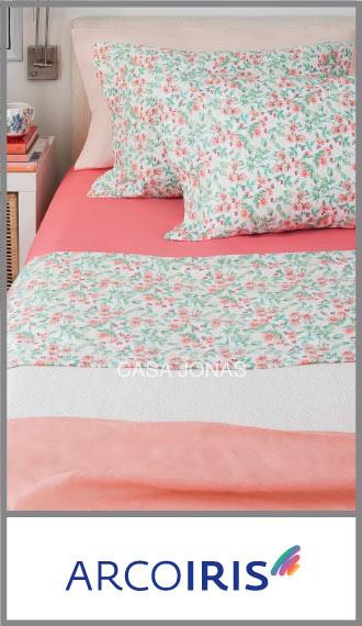 Juego de sábanas Arco Iris 60/40% algodón/poliester 1 plaza y media