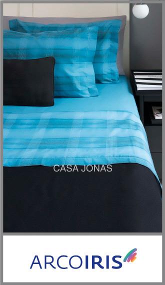 Juego de sábanas Arco Iris 60/40% algodón/poliester 2 plazas y media