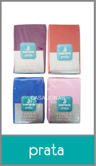 Funda para almohada Prata 100% Algodón de 1 plaza 50cm x 70cm