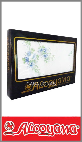 Mantel Alcoyana alg/pol estamp rectangular 1.50m x 2.00m c/servilletas