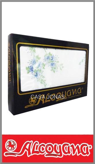 Mantel Alcoyana alg/pol estamp rectangular 1.50m x 2.50m c/servilletas