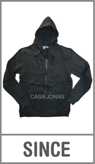 Campera frizada Premium Since c/ capucha liso para hombre talles XS/XXL