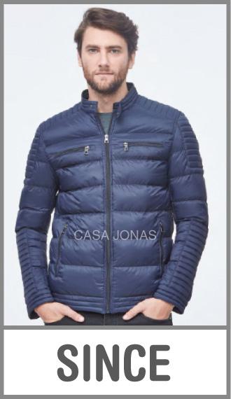 Campera de invierno para hombre recta cuatro bolsillos en talles S/M