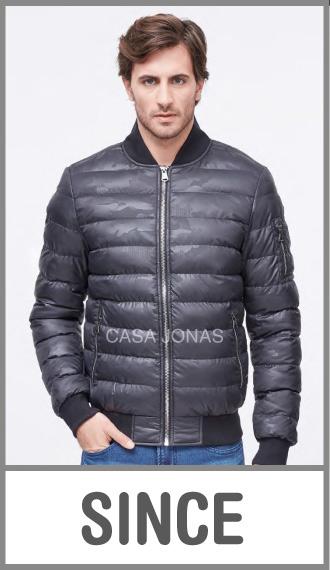 Campera de invierno para hombre camuflada cintura tejida en talles S/M