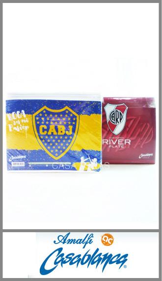 Juego de sabanas Futbol BOCA / RIVER algodon/poliester 1½ plaza