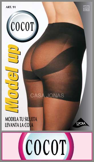 Can can con lycra con bombacha push up Cocot talles 2/4