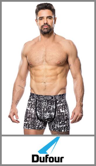 Boxer estampado en algodon/lycra Dufour en talles S/XXL