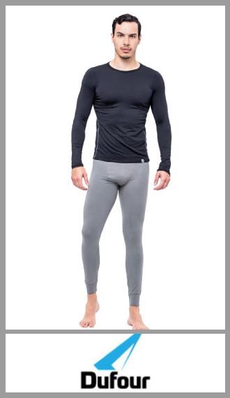 Camiseta térmica manga larga Dufour en poliester/elastano talles S/XXL