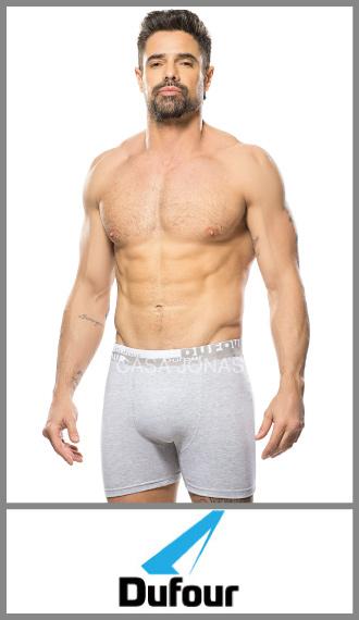 Boxer algodon/lycra elastico bordado para hombre Dufour talles S/XXL