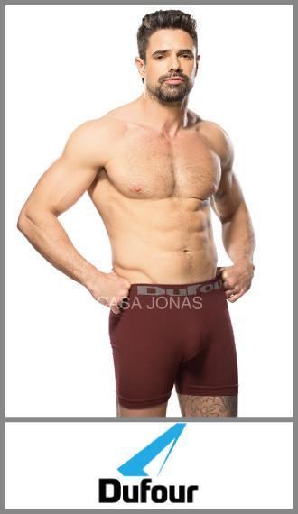 Boxer sin costuras algodón liso Dufour en talles S/XXXL