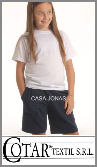 Short colegial rústico Cotar color azul talles 12/16