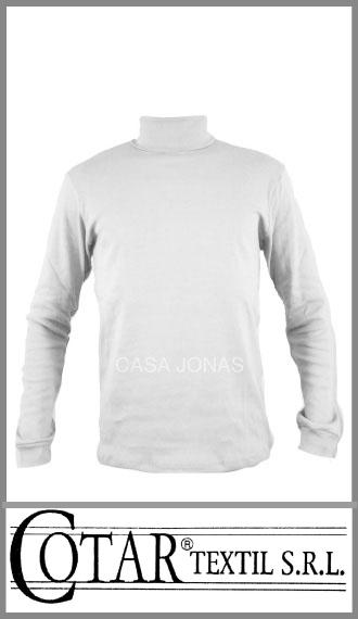 Media polera en jersey de algodón blanco Cotar talles 12/16