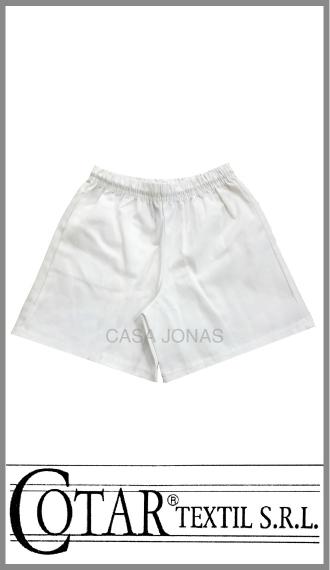 Short colegial de gabardina Cotar color blanco en talles 6/10