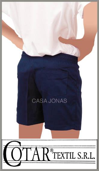Short colegial de gabardina Cotar color azul en talles 12/16