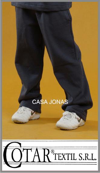 Pantalon colegial rustico Cotar azul tiro bajo para nena talles 12/16