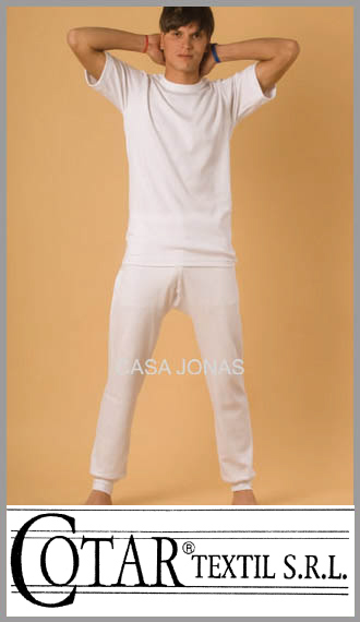 Camiseta de interlock manga corta cuello redondo Cotar talle 44