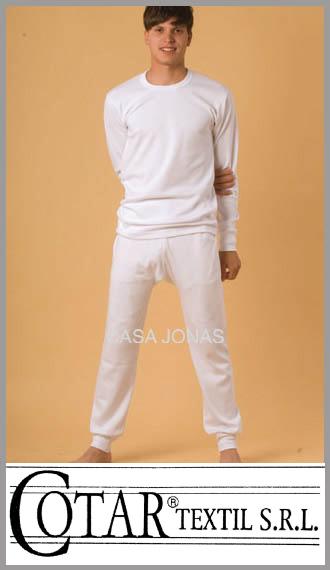 Camiseta de interlock manga larga cuello redondo Cotar talle 48