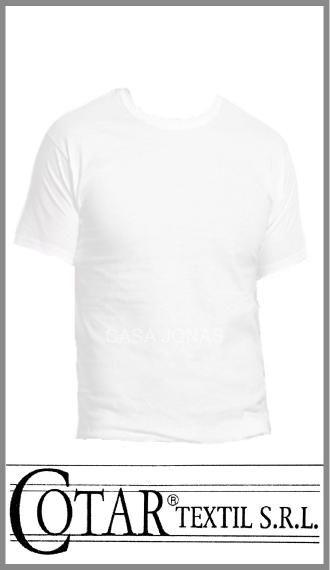 Camiseta de algodon manga corta cuello redondo Cotar talles 38/44