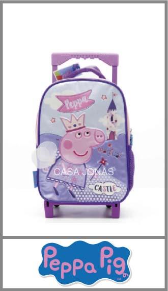 Mochila infantil con carro Peppa Pig para nena 21cm x 35cm x 11cm