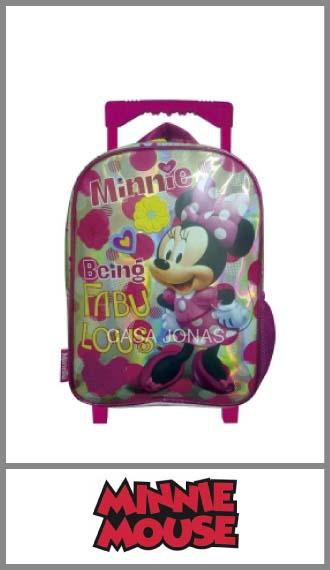 Mochila infantil Minnie Disney con Carro para nena 21cm x 33cm x 12cm