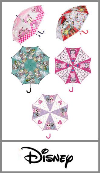 Paraguas para chicos surtido Personajes, mango plástico