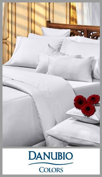 Juego de sabanas lisa algodon/poliester Danubio Colors 2½ plaza