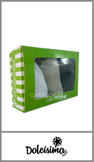 Cola less Dolcisima en cajita de 3 prendas en microfibra lisa