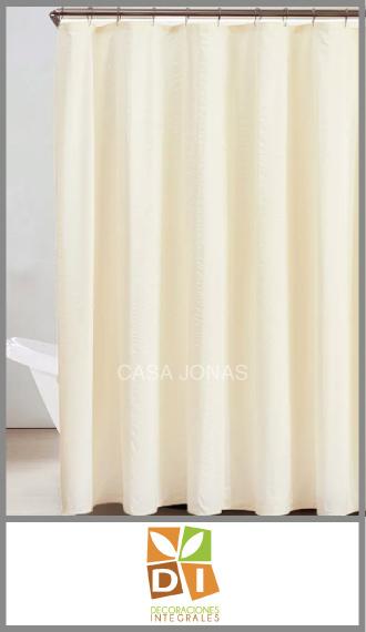 Cortina de baño Teflón impermeable Decoraciones Integrales 1.80 x 1.80m