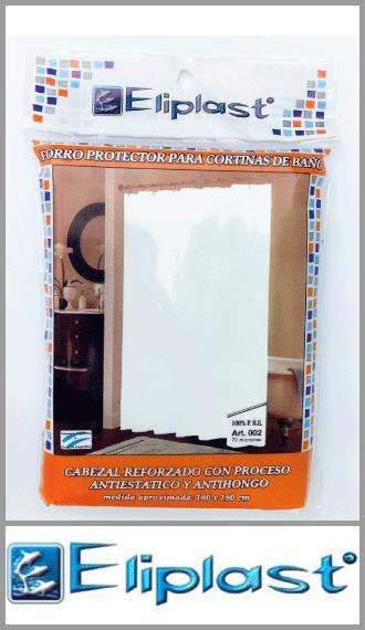 Protector para cortina de baño en 75 micrones Eliplast 1.80m x 1.80m