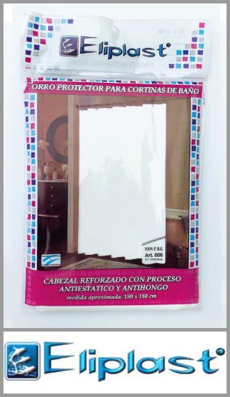 Protector para cortina de baño en 30 micrones Eliplast 1.80m x 1.80m