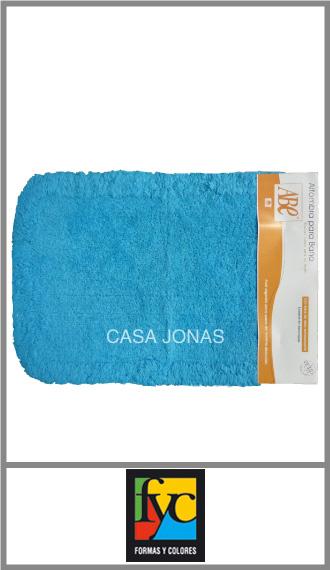 Alfombra de baño relieve y antideslizante Formas y colores 40cm x 60cm