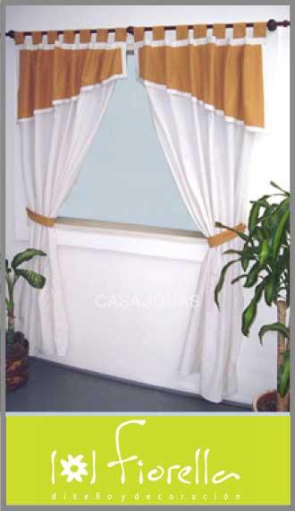 Cortina de ambiente en gross crudo Fiorella, 2 paños de 1.45m x 2.10m