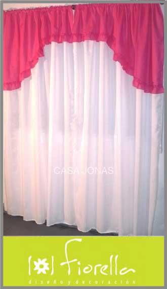 Cortina de ambiente en voile Fiorella, 2 paños de 1.45m x 2.10m