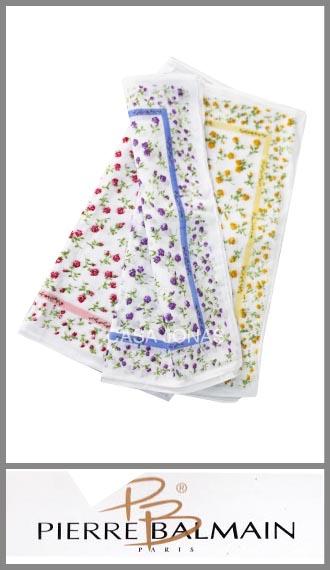 Pañuelo grande estampado fondo color para mujer Louis Feraud