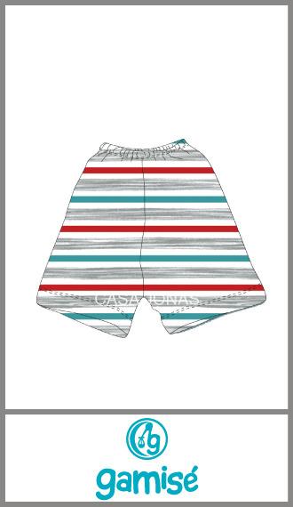 Short rayado intenso Gamise para varón talles 1 al 4