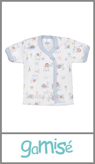 Batita algodon estampado Gamise para verano con broches de metal t 0/3