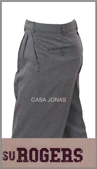 Pantalon colegial premium pinzado en sarga Su Roger en talles 38/42