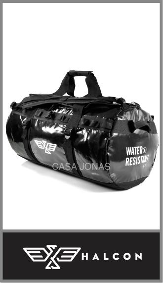 Bolso de viaje Halcon Basecamp Impermeable, medida 50cm x 30cm x 35cm