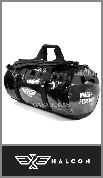 Bolso de viaje Halcon Basecamp Impermeable, medida 60cm x 30cm x 35cm