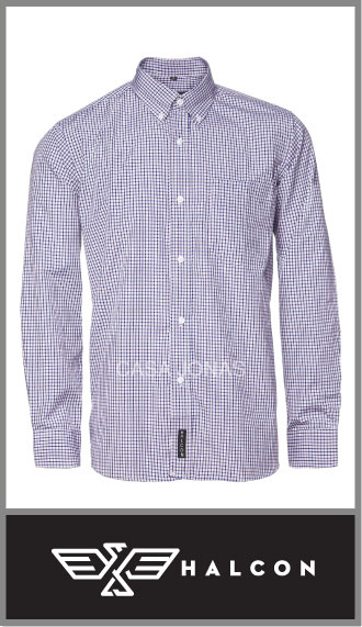 Camisa Halcón manga larga en algodón/poliester p/hombre talles 40/46
