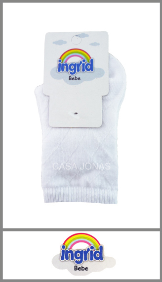 Media Ingrid blanca calada p/bebé t 000-00-0-01-02