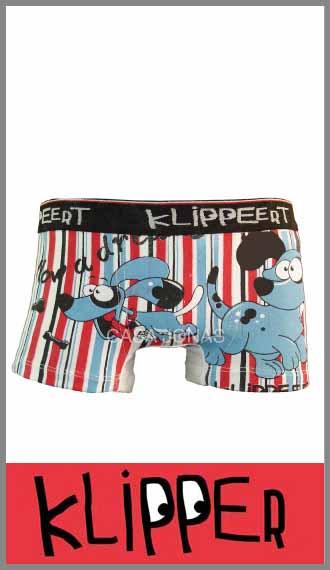 Boxer Klipper en algodón con lycra estampado T 2 para bebé / nene