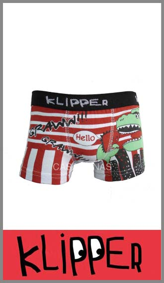 Boxer Klipper en algodón con lycra estampado en talles 4 al 12
