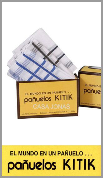 Panuelo 100% algodon Kitik para hombre, medida 42cm x 42cm