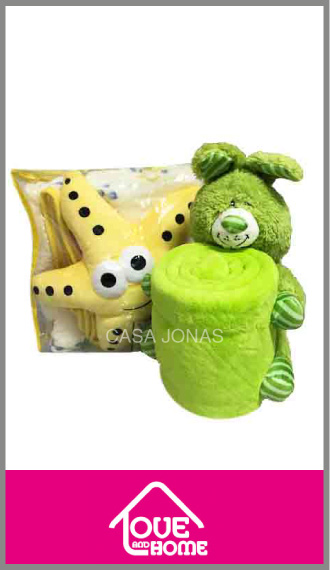 Frazada Love & Home flannel estampado con muñeco! Para cuna funcional