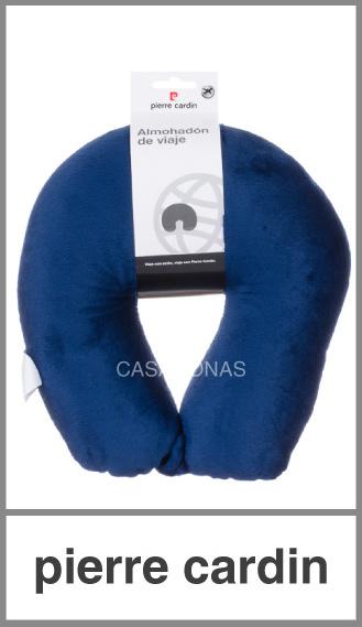 Almohada de viaje Pierre Cardin soft con broche