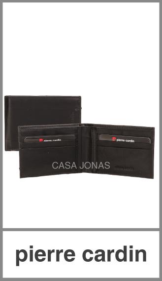 Billetera de Pu en caja Pierre Cardin para hombre