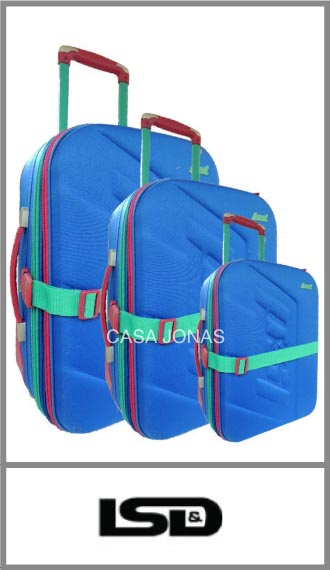 Set de 3 valijas Lsd travel colores vivos! Con porta traje